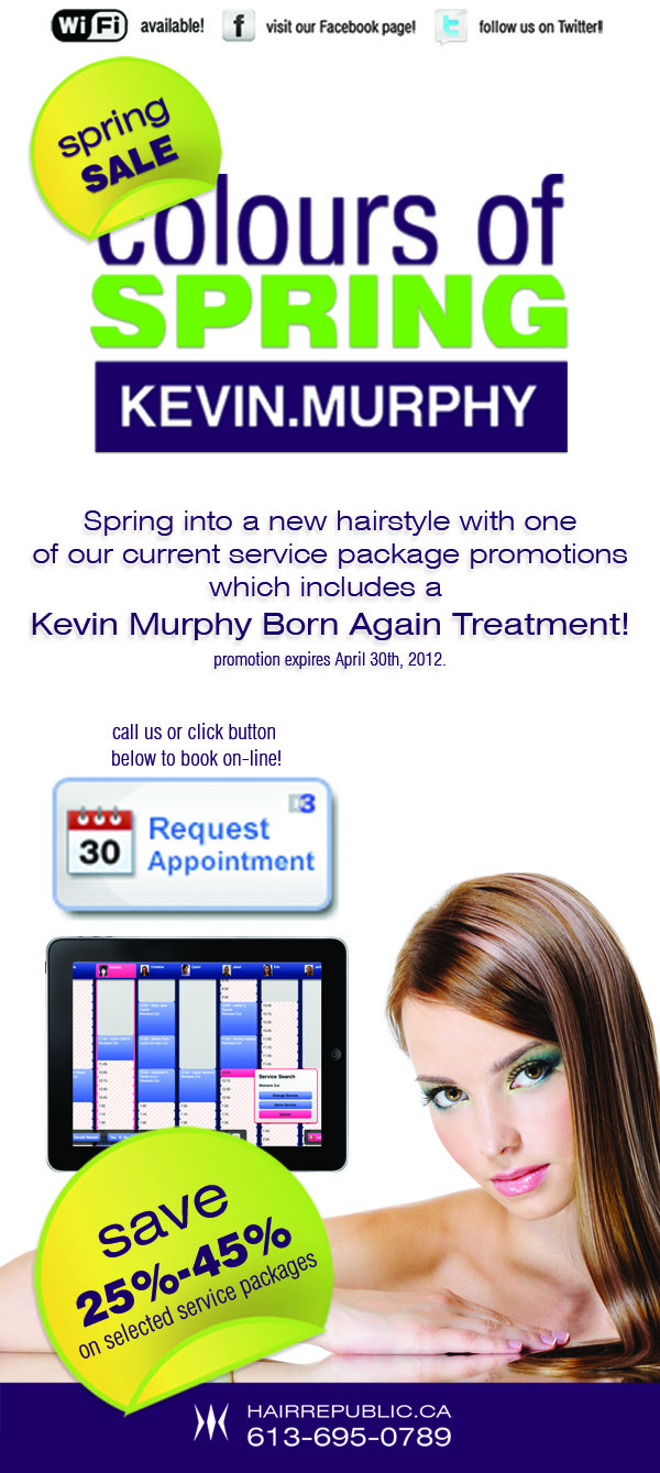 Select one of our new KEVIN MURPHY spring promotions!